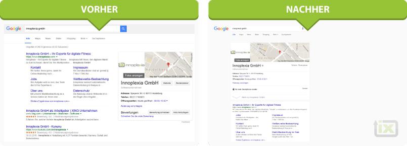 google serp screenshot design änderung 2