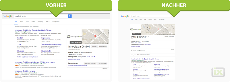 google serp screenshot design änderung