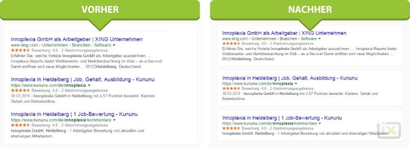 google serp screenshot anzeigen design änderung 2