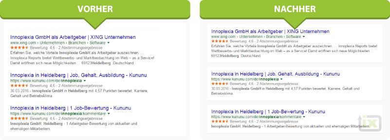 google serp screenshot anzeigen design änderung